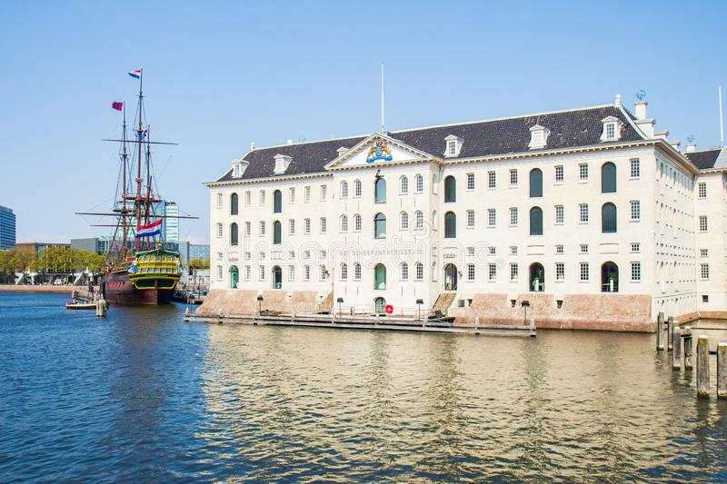 The National Maritime Museum, Amsterdam in the Netherlands stock photography
