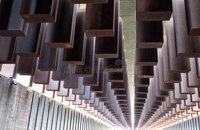 National Memorial for Peace and Justice, Montgomery, Alabama, U. S. A zdjęcie stock
