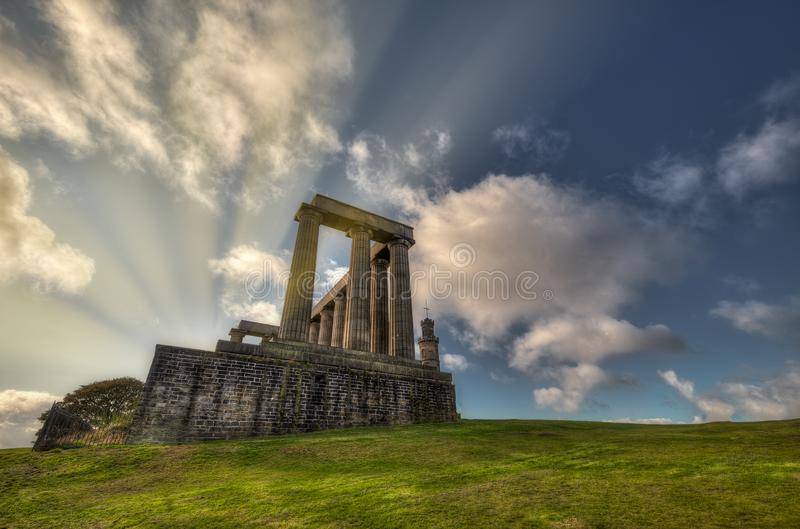 National Monument on Calton Hill. Edinburgh United Kingdom.  stock photography