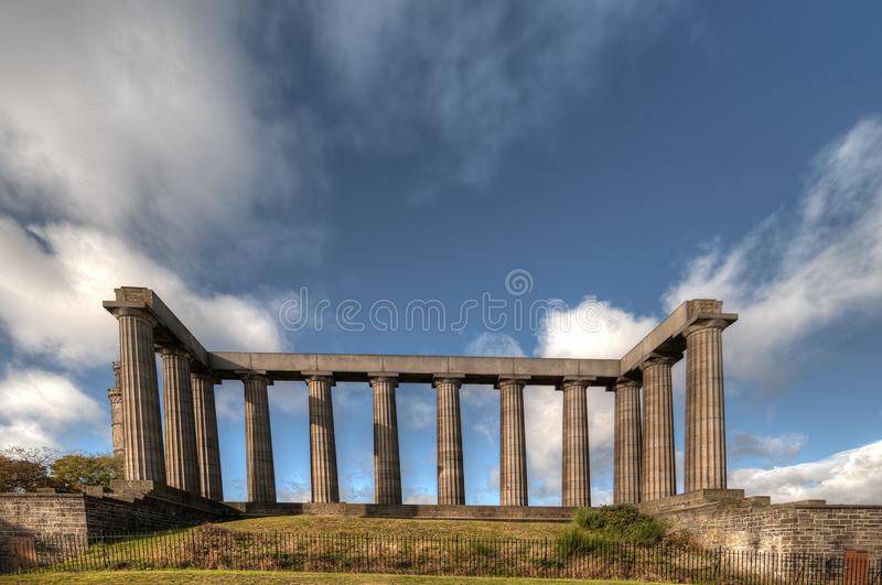 National Monument on Calton Hill. Edinburgh United Kingdom.  stock images