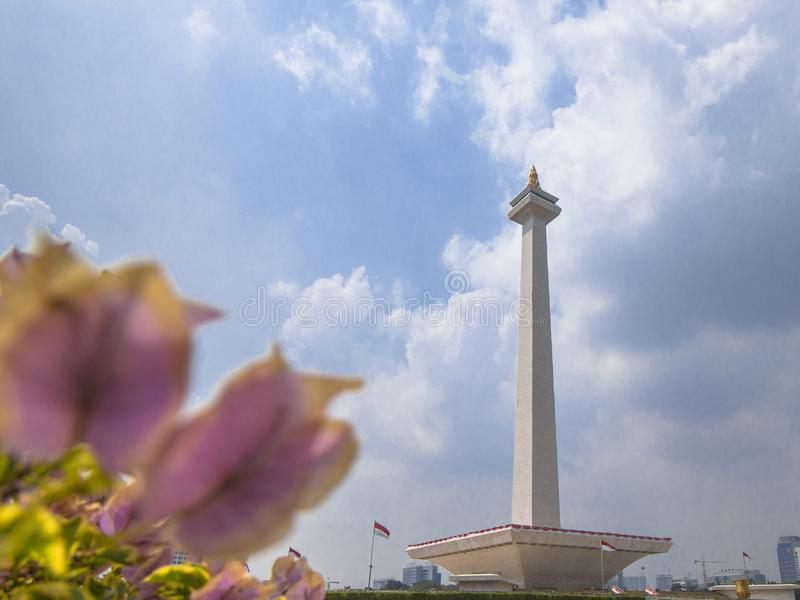 Monumen Nasional Monas. The National Monument Indonesian: Monumen Nasional, abbreviated Monas is a 132 m 433 ft tower in the centre of Merdeka Square, Central stock images