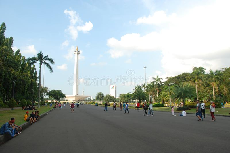 The National Monument of Jakarta stock images