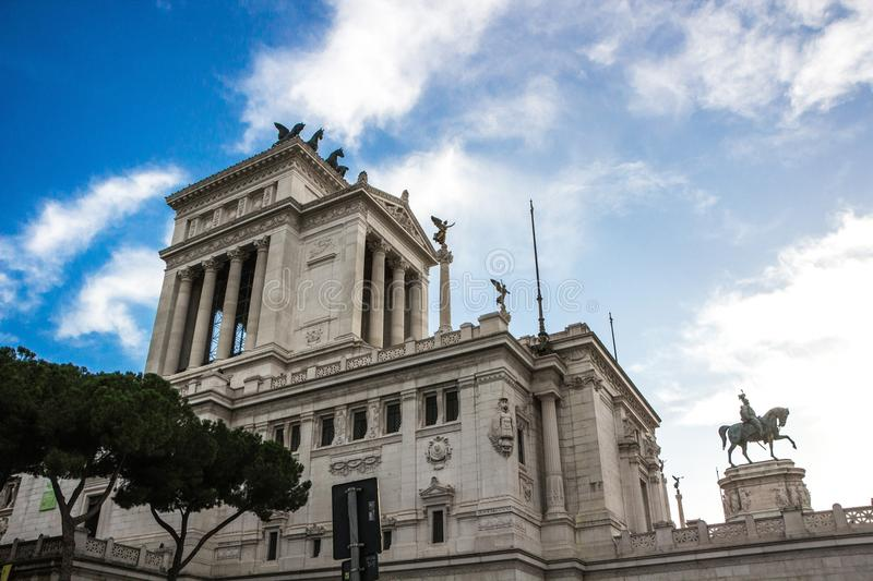 Rome, Italy - September 12, 2017: National Monument to Victor Emmanuel II in Rome. The Altare della Patria. stock image