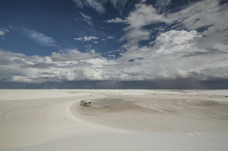 White Sands, National Monument, New Mexico, USA. royalty free stock photography