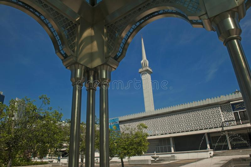 National Mosque of Malaysia. The National Mosque of Malaysia is a mosque in Kuala Lumpur, Malaysia. It has a capacity for 15,000 people and is situated among 13 royalty free stock photography