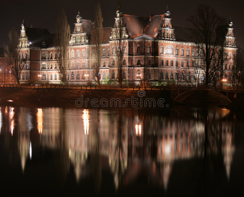 Download National museum stock image. Image of poland, night, river - 4495865