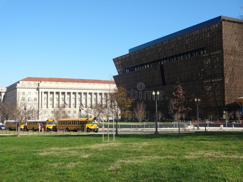 National Museum of African American History and Culture. Construction underway of the National Museum of African American History and Culture on the National royalty free stock photo