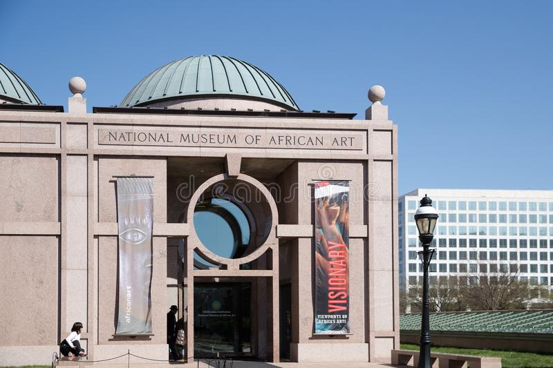 The National Museum of African Art is an African art museum located in Washington, D.C., United States. Washington DC April 1 2018: The National Museum of royalty free stock photo