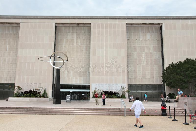 National Museum of American History. WASHINGTON, USA - JUNE 13, 2013: People visit National Museum of American History in Washington DC. It opened in 1964. It royalty free stock images