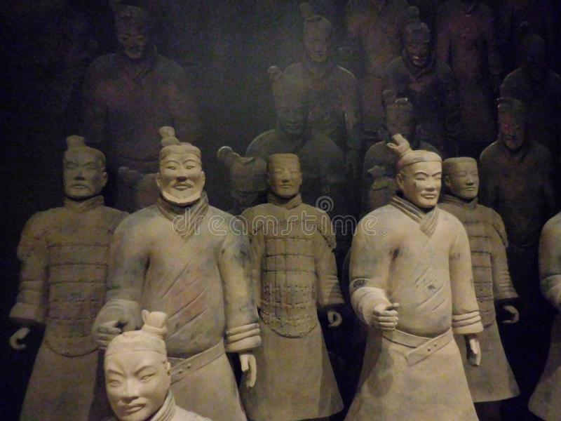 National Museum of Art, Osaka, Japan. The Great Terracotta Army of China`s First Emperor. July 5 - October 2, 2016. royalty free stock image