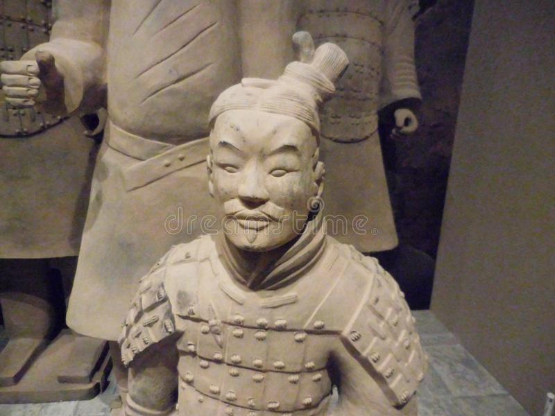 National Museum of Art, Osaka, Japan. The Great Terracotta Army of China`s First Emperor. July 5 - October 2, 2016. stock photos