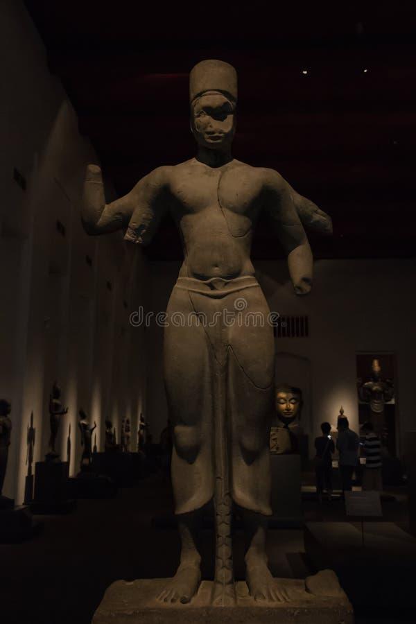 The National Museum Bangkok,old stone buddha royalty free stock images