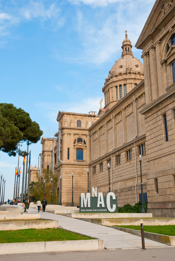 National Museum of Art, Barcelona stock images