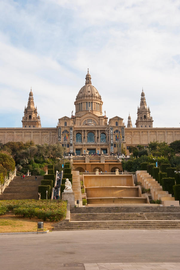 National Museum of Art, Barcelona royalty free stock image