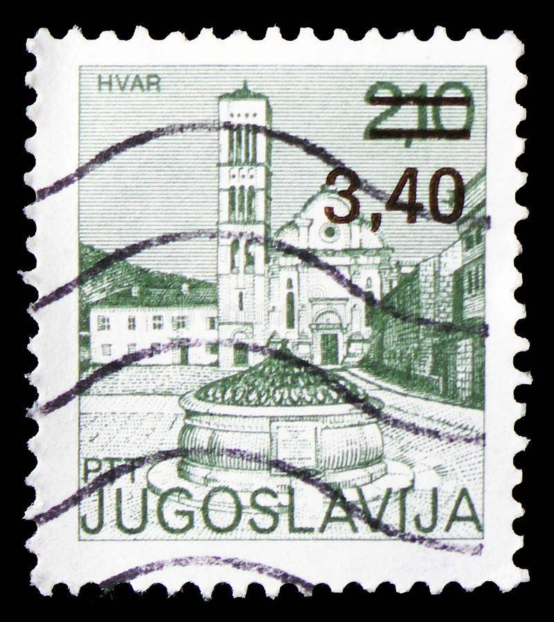 National Museum, Ohrid, Tourism - Definitive Small serie, circa 1975. MOSCOW, RUSSIA - MARCH 23, 2019: A stamp printed in Yugoslavia shows National Museum, Ohrid royalty free stock images