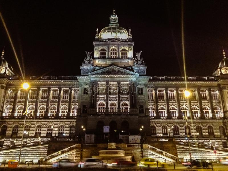 The National Museum, Prague. The National Museum is a Czech museum institution intended to systematically establish, prepare and publicly exhibit natural royalty free stock photos