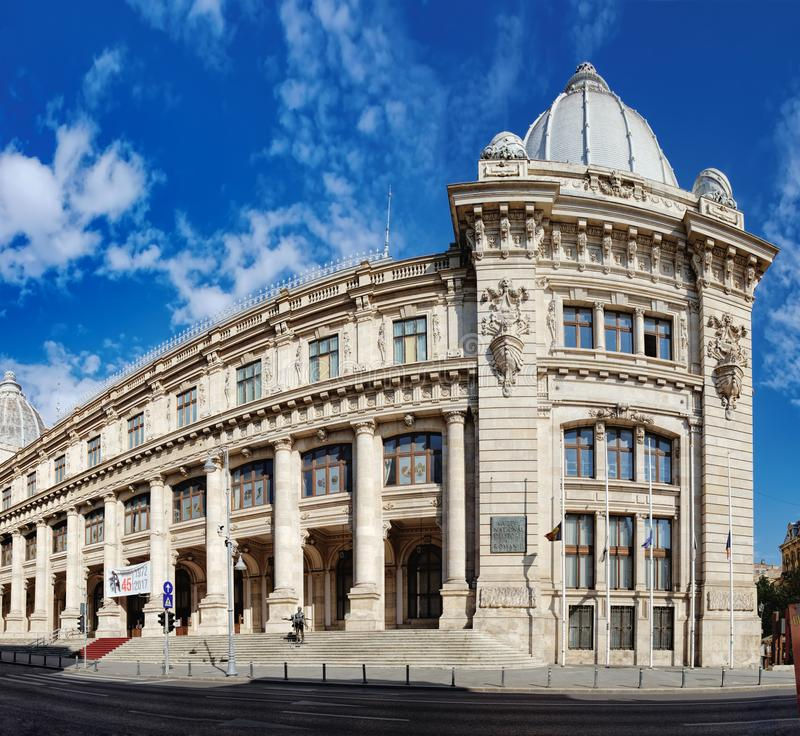 National Museum of Romanian History in Bucharest. Panoramic view of National Museum of Romanian History which located on Calea Victoriei in Bucharest, Romania royalty free stock images