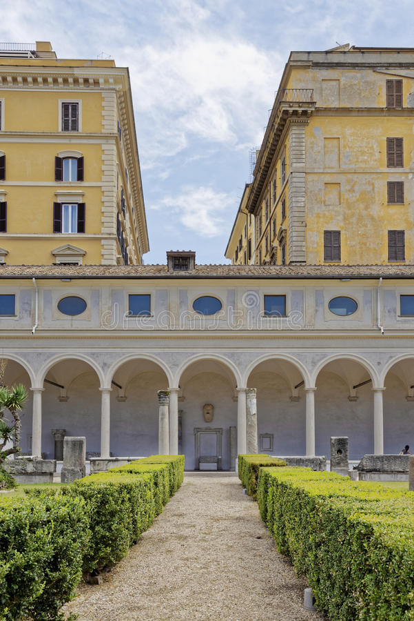 National museum of rome royalty free stock photos