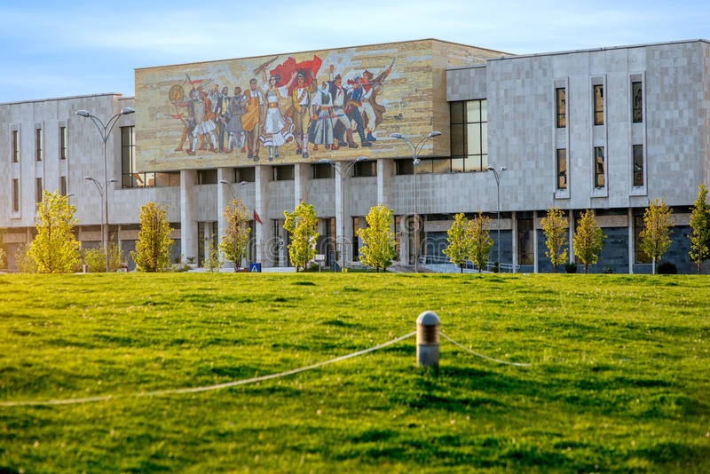 National museum in Tirana center. In Albania royalty free stock images