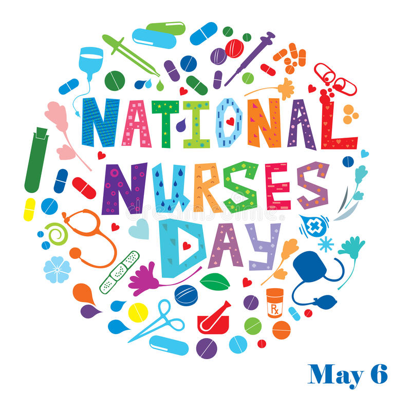 National Nurses Day. An abstract illustration of National Nurses Day celebrated in United States