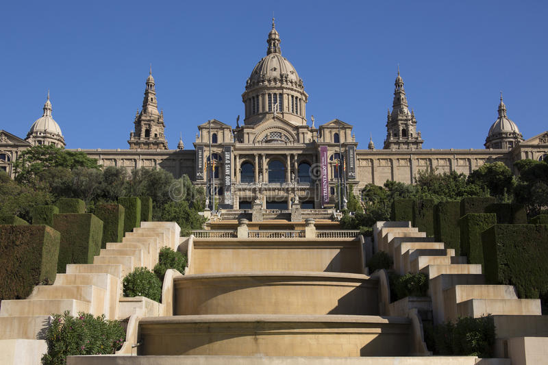 National Palace - Barcelona - Spain royalty free stock images