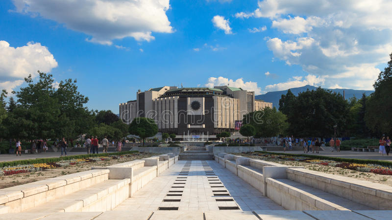 National Palace of Culture. The National Palace of Culture in Sofia, Bulgaria. Taken on June 29, 2012. The palace is the largest multifunctional congress stock photo