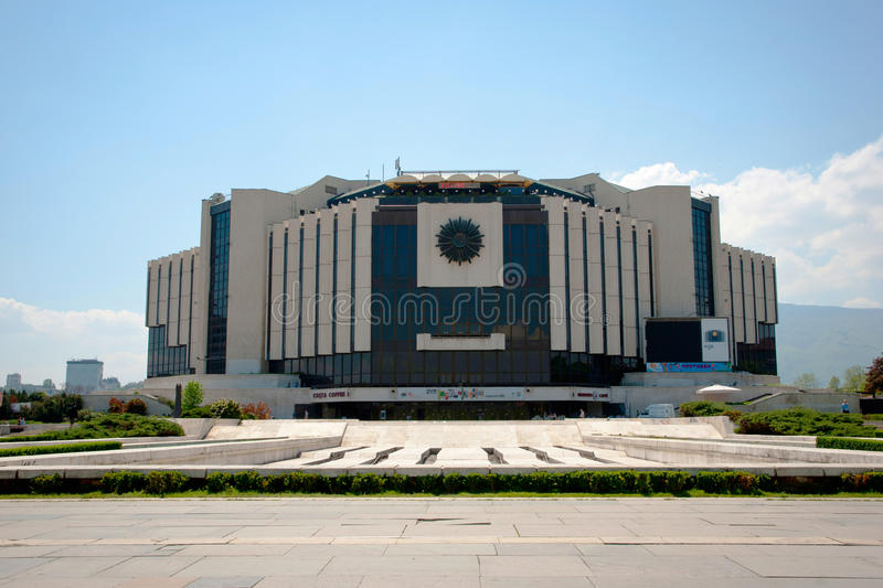 National Palace of Culture, Sofia, Bulgaria. SOFIA, BULGARIA - APRIL, 30: National Palace of Culture is the largest multifunctional congress, conference stock photography