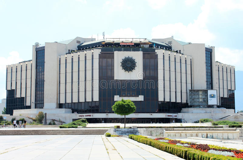 National Palace of Culture in Sofia. SOFIA, BULGARIA - CIRCA AUGUST 2013 - National Palace of Culture (Natsionalen dvorets na kulturata in Bulgarian) in the stock photos