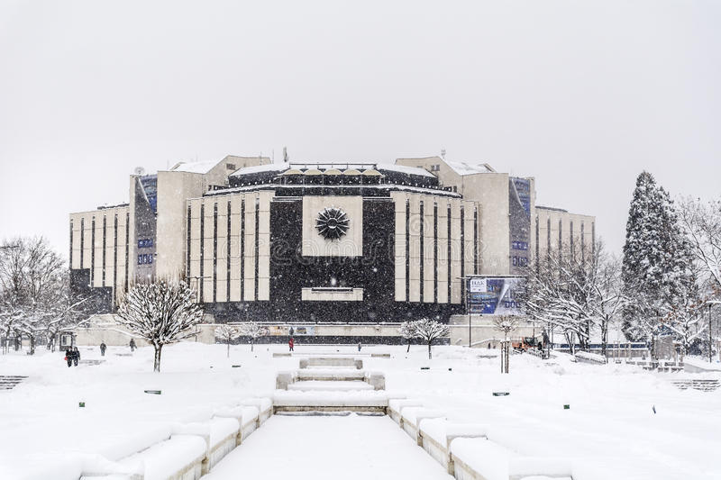 Download National Palace Of Culture In Sofia, Bulgaria Covered With Snow Editorial Stock Image - Image: 83720194
