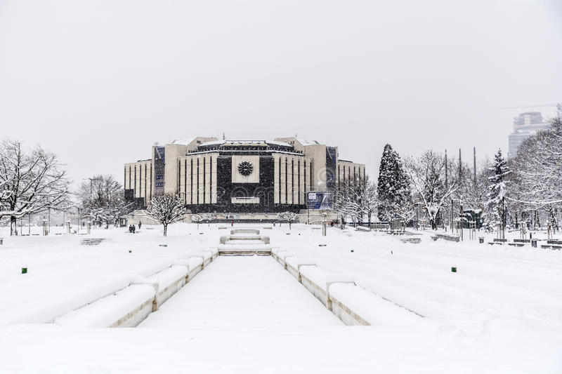 Download National Palace Of Culture, Sofia, Bulgaria Covered With Snow Editorial Photography - Image of commercial, conference: 83719957