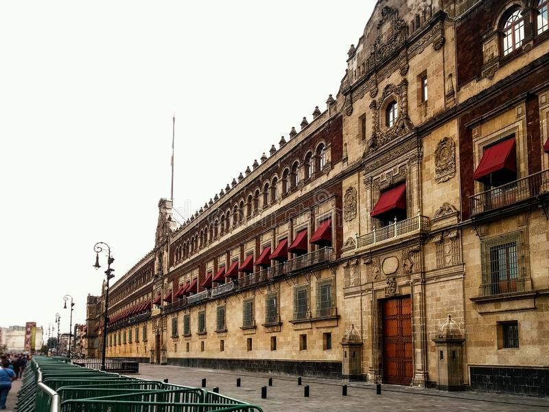 Palacio Nacional in Mexico City, Mexico. Government. Zocalo Dist. The National Palace is located at Constitution Plaza in the Zocalo District of Mexico City stock image