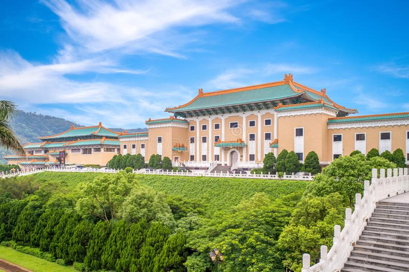 National palace museum in taipei, taiwan. The National Palace Museum, located in Taipei and Taibao, Chiayi County, Taiwan, has a permanent collection of nearly royalty free stock photos