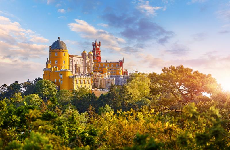 National Palace of Pena in Sintra Portugal stock image