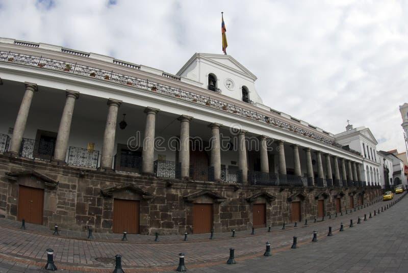 National palace on plaza grande quito ecuador royalty free stock images