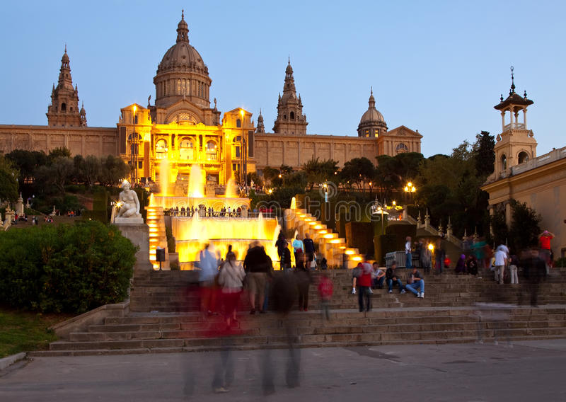 National Palau of Montjuic at Barcelona stock photos