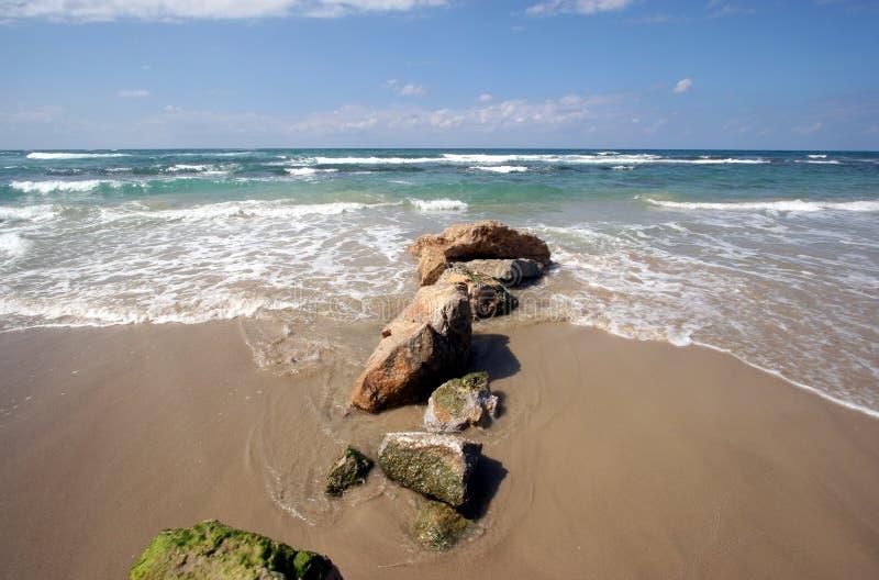 National park Cesarea in Israel. National park Cesarea on coast of Mediterranean sea in Israel royalty free stock image