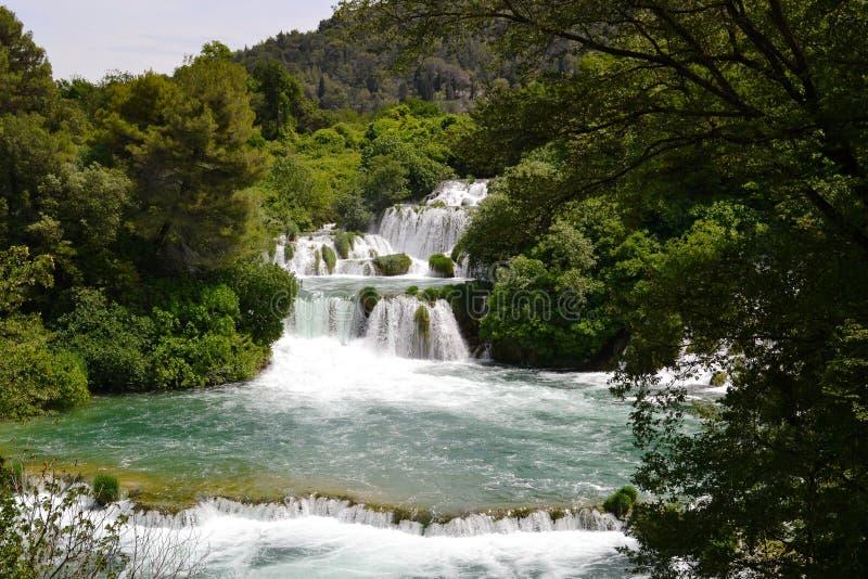 National park Krka (Croatia) stock images