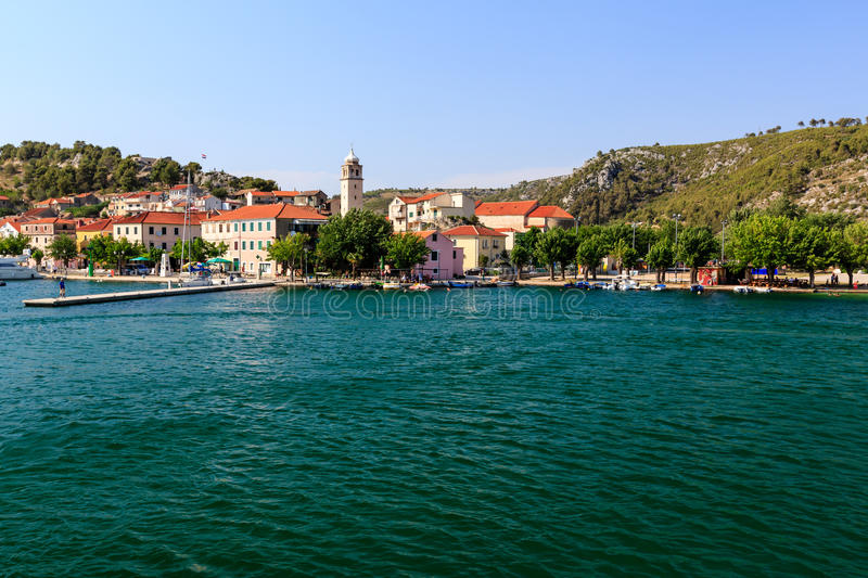 National Park Krka, River Krka, Town of Skradin stock photo