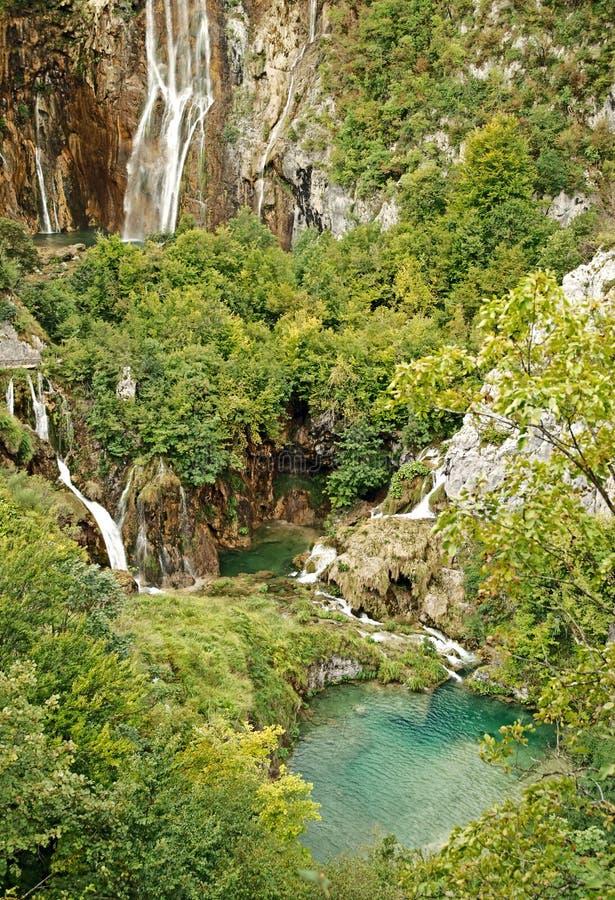 National park Plitvice lakes stock photo