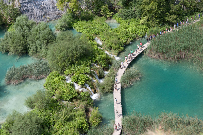 National park: Plitvice lakes stock photography
