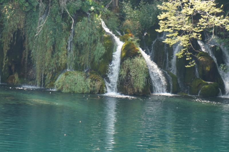 National Park Plitvice Lakes Croatia - Beatiful Waterfall splitted stock photos