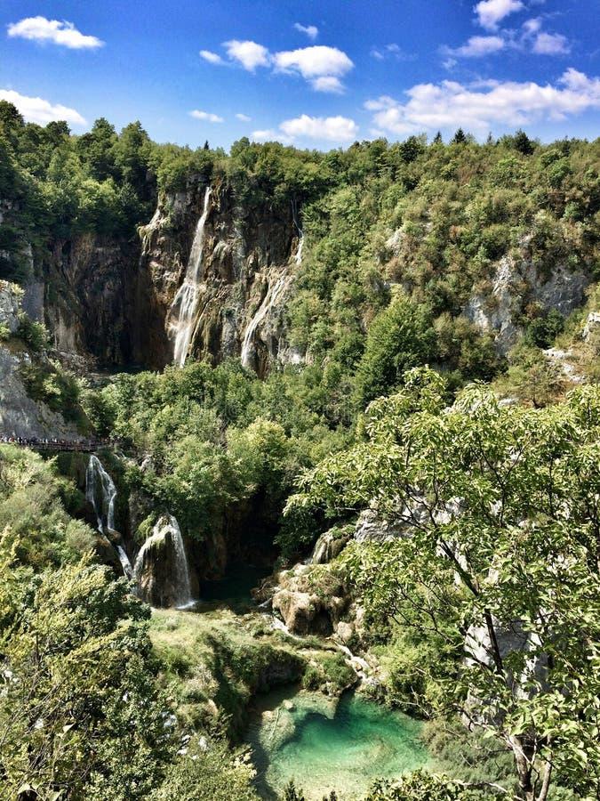 National Park of Plitvice Lakes. Waterfalls of Plitvice Lakes stock photo