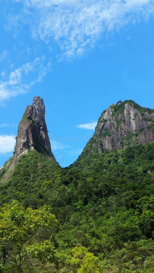 Brazilian mountains. National park Serra dos Orgaos, Brazil royalty free stock photography