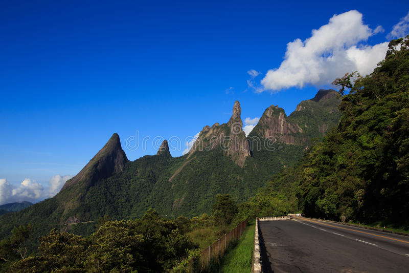 National park Serra dos Orgaos, Brazil. Famous peaks of national park Serra dos Orgaos, Brazil stock photos