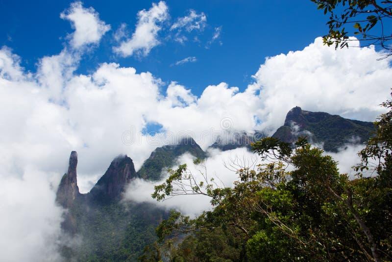 National park Serra dos Orgaos Brazil. Famous peaks of national park Serra dos Orgaos, Brazil royalty free stock photo