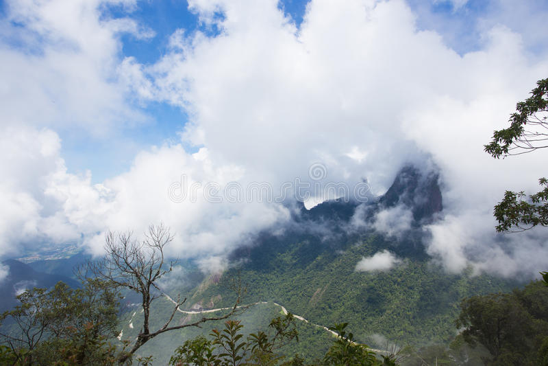 National park Serra dos Orgaos Brazil. Famous peaks of national park Serra dos Orgaos at Brazil royalty free stock photos