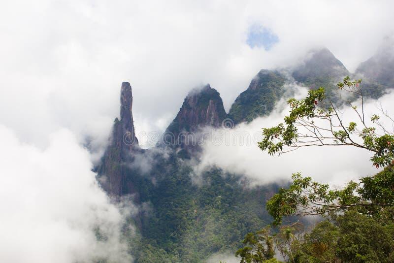 National park Serra dos Orgaos Brazil. Famous peaks of national park Serra dos Orgaos, Brazil stock image