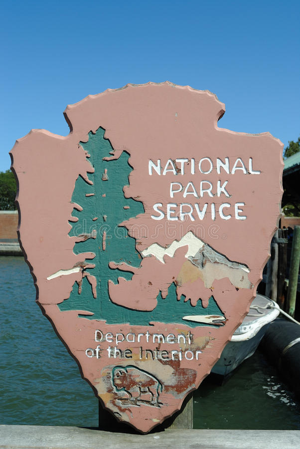 National Park Service Sign stock photography