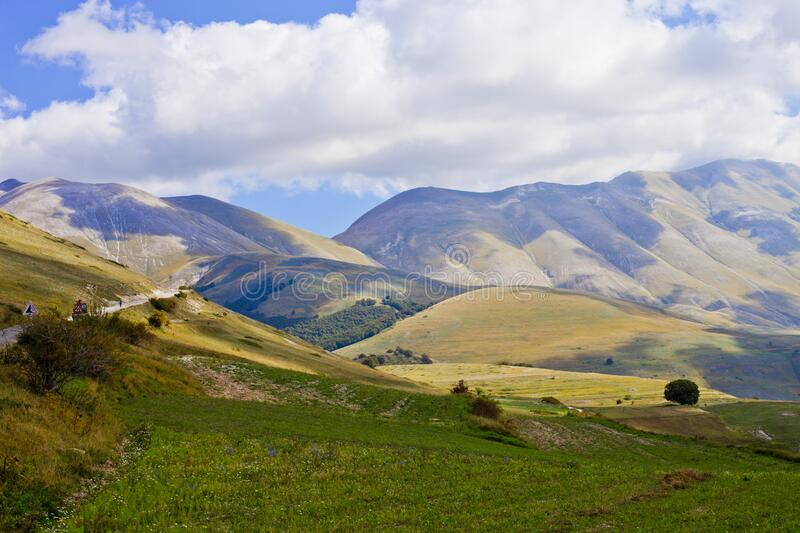 National Park of the Sibillini Mountains stock image