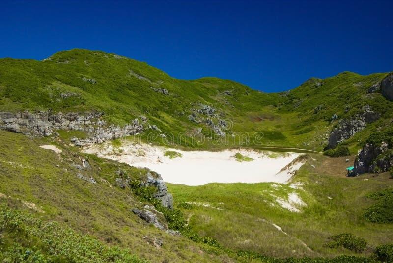 National park in South Island of Ogasawara stock images